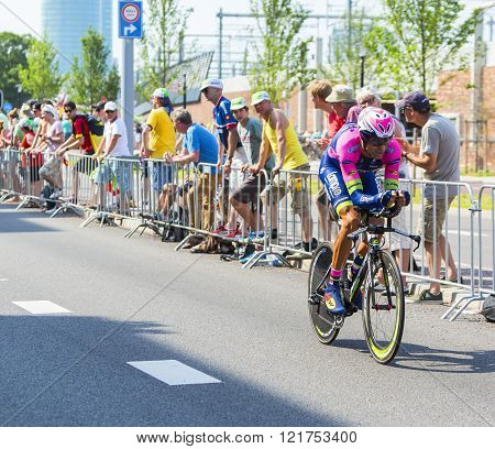 The Cyclist Ruben Plaza Molina - Tour De France 2015