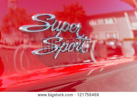Super Sport Car Emblem