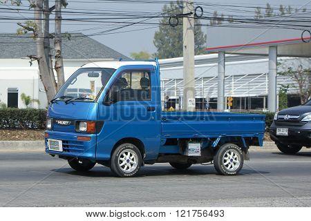 CHIANGMAI THAILAND -FEBRUARY 16 2016: Private Mini Truck of Daihatsu Hijet. On road no.1001 8 km from Chiangmai city.