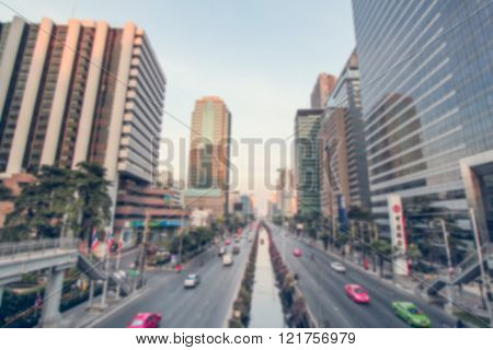 Blurred traffic in Bangkok, Thailand