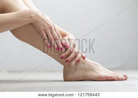 female legs and hands