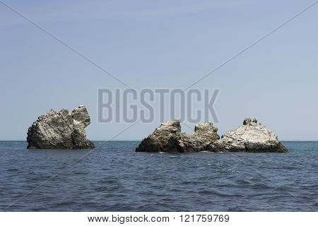 Monks Rocks In The Black Sea