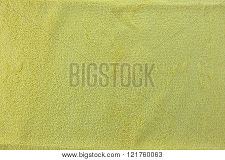 Yellow color Texture of microfiber Cloth for the design background.