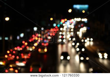 Blurred Traffic Jams In The City