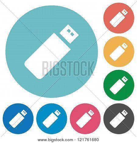 Flat Pendrive Icons