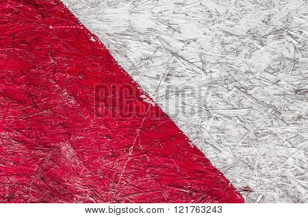 Grunge Background Of Red And White Stripes