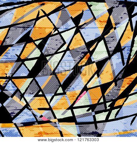 Beautiful Abstract Dark Lines Graffiti Pattern Vector Illustration