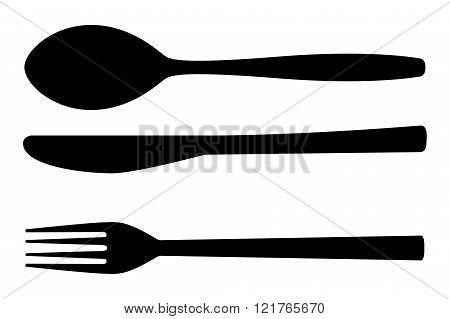 Cutlery set - fork, spoon, knife