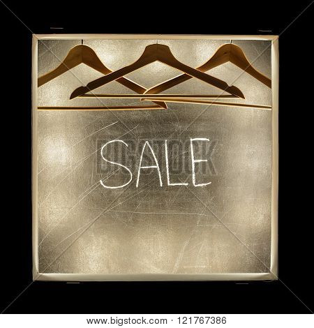 inscription Sale written with chalk