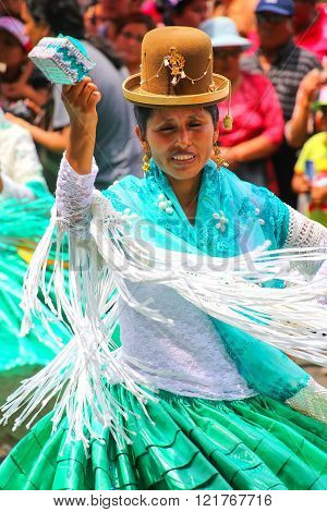Lima, Peru-january 31: Unidentified Woman Performs During Festival Of The Virgin De La Candelaria On