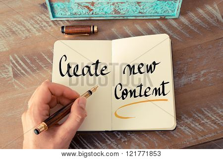 Written Text Create New Content