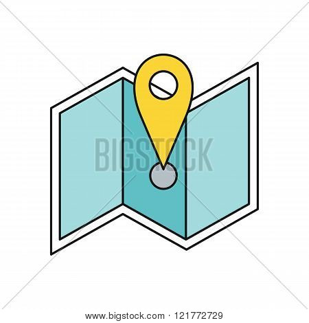 Delivery Map Location Pin Design Flat