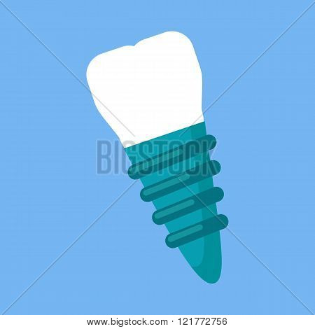 Dental Implant Design Flat Icon