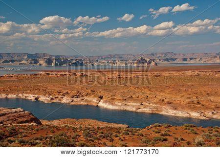 Colorado River Near Page, Arizona And Utah, Usa