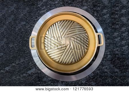 Brass Grilling Pan For Korean Style Bbq