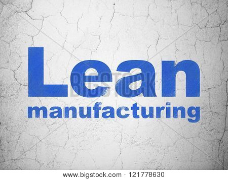 Manufacuring concept: Lean Manufacturing on wall background