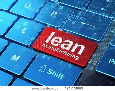 Manufacuring concept: Lean Manufacturing on computer keyboard background