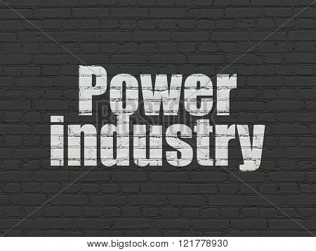Industry concept: Power Industry on wall background