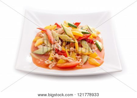 Asian meat dish with vegetables