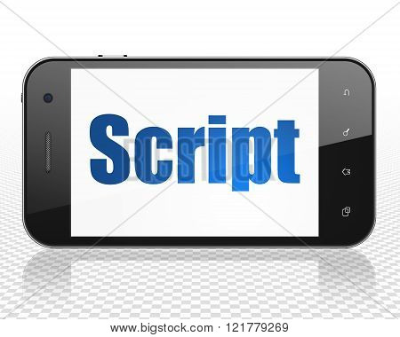 Programming concept: Smartphone with Script on display
