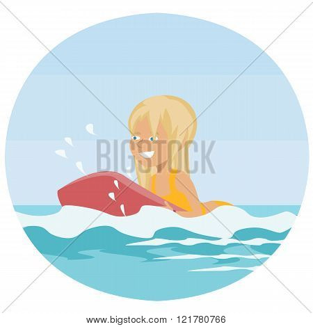 girl on board at sea