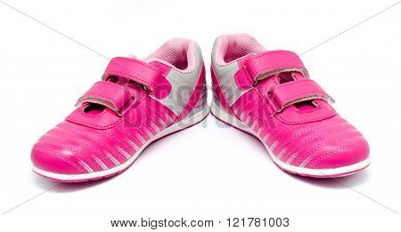 Children Pink Sport Shoes Isolated