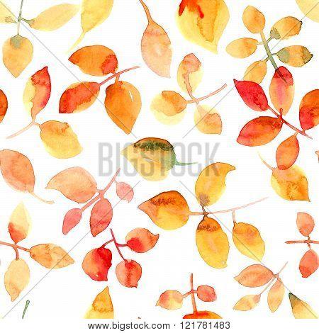 Flying Orange Leaves