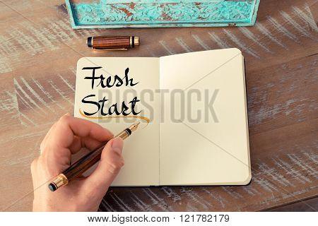 Written Text Fresh Start