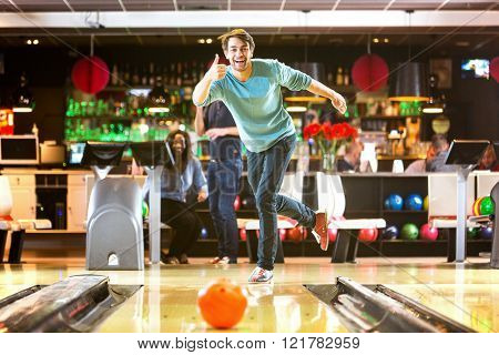 Bowling with a couple of friends in a bowling alley is good fun, and a great idea for a night out