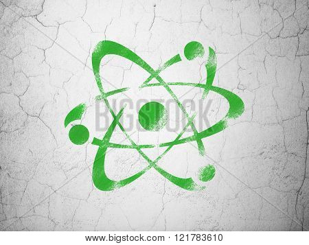 Science concept: Molecule on wall background