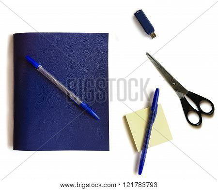 School supplies, schoolchild and student studies accessories. Back to school concept.