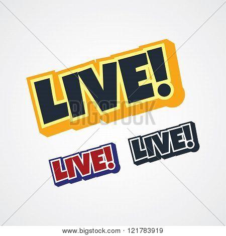 live streaming theme sign vector art illustration