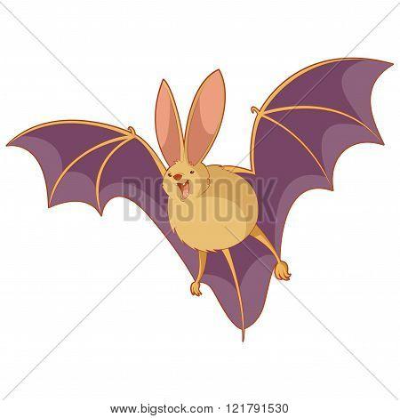 Cartoon happy bat