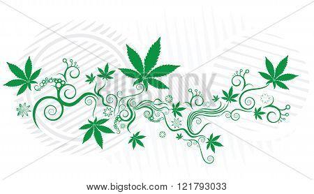 Marijuana cannabis leaf symbol texture vector background
