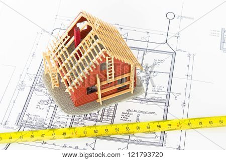 Plan of a new house - architect and builder