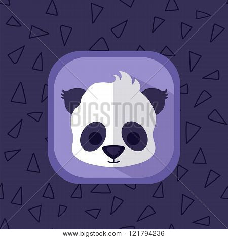 Little Cute Baby Panda Bear Flat Icon