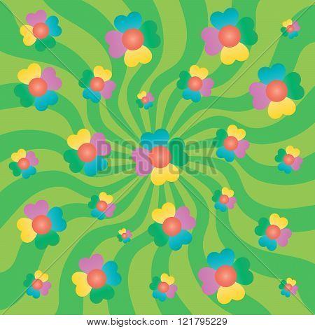 Spring or summer floral concept or background.