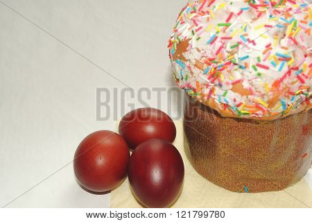 Cake And Eggs For Easter