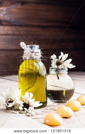 Spa, Oil, Spices, Dry Flowers Of Chamomile