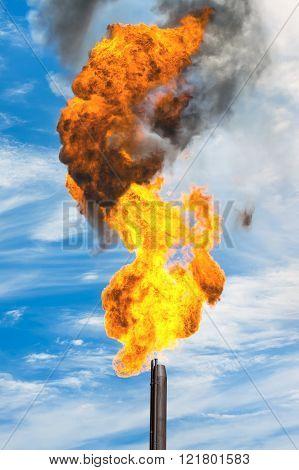 Gas flaring.