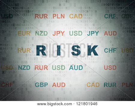 Finance concept: Risk on Digital Paper background