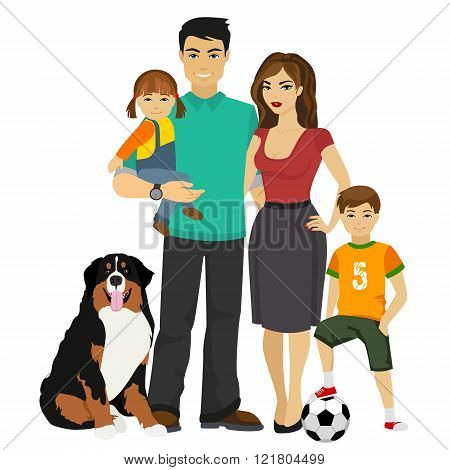 Young happy Family vector illustration