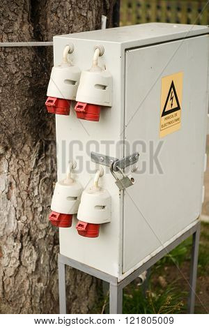 Outdoor electric control box distribution box in nature