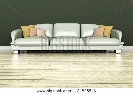 Architecture interior visualisation. A 3D rendered illustration.