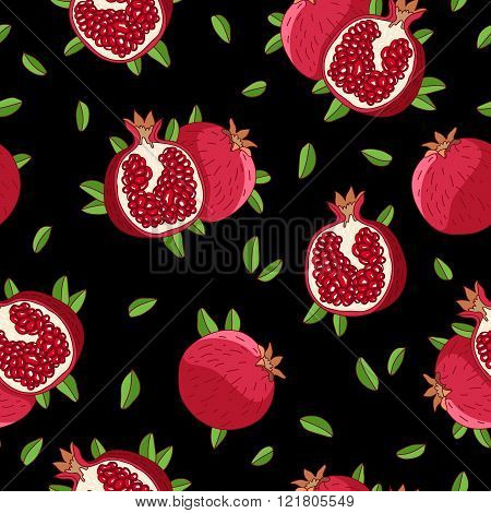 Garnet Seamless Vector Pattern