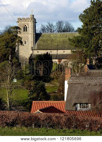 A view of a English country village