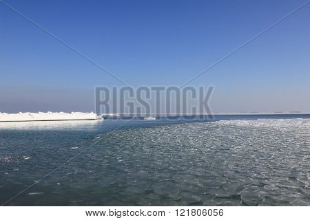 Black Sea On A Clear Winter Day.