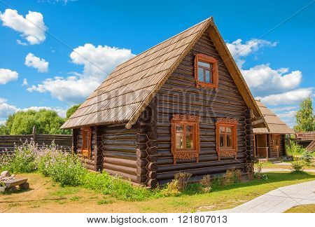 Russian log cabin