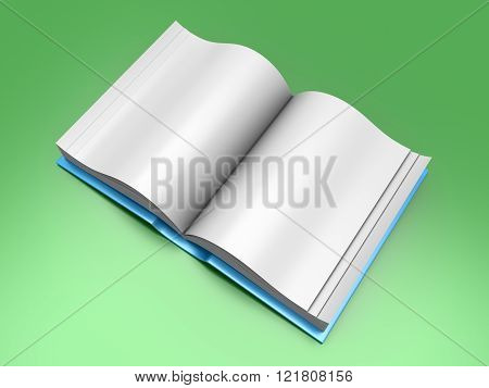 An open Book. A 3D rendered Illustration.