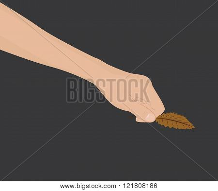 Hand With Leaf